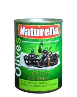 Naturella Оливки Чёрные Резаные без косточки 280