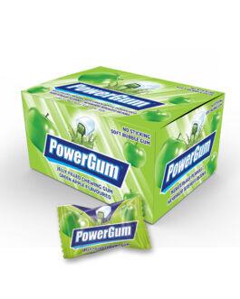 PowerGum Жевательная Резинка Яблоко 4 гр