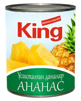King Ананасы кусочки 830