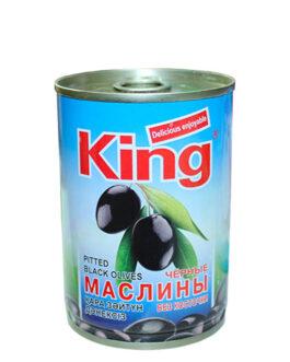 King оливки черные без косточки 280