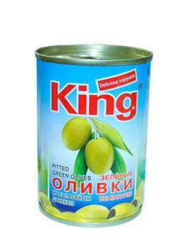 King оливки зелёные без косточки 280